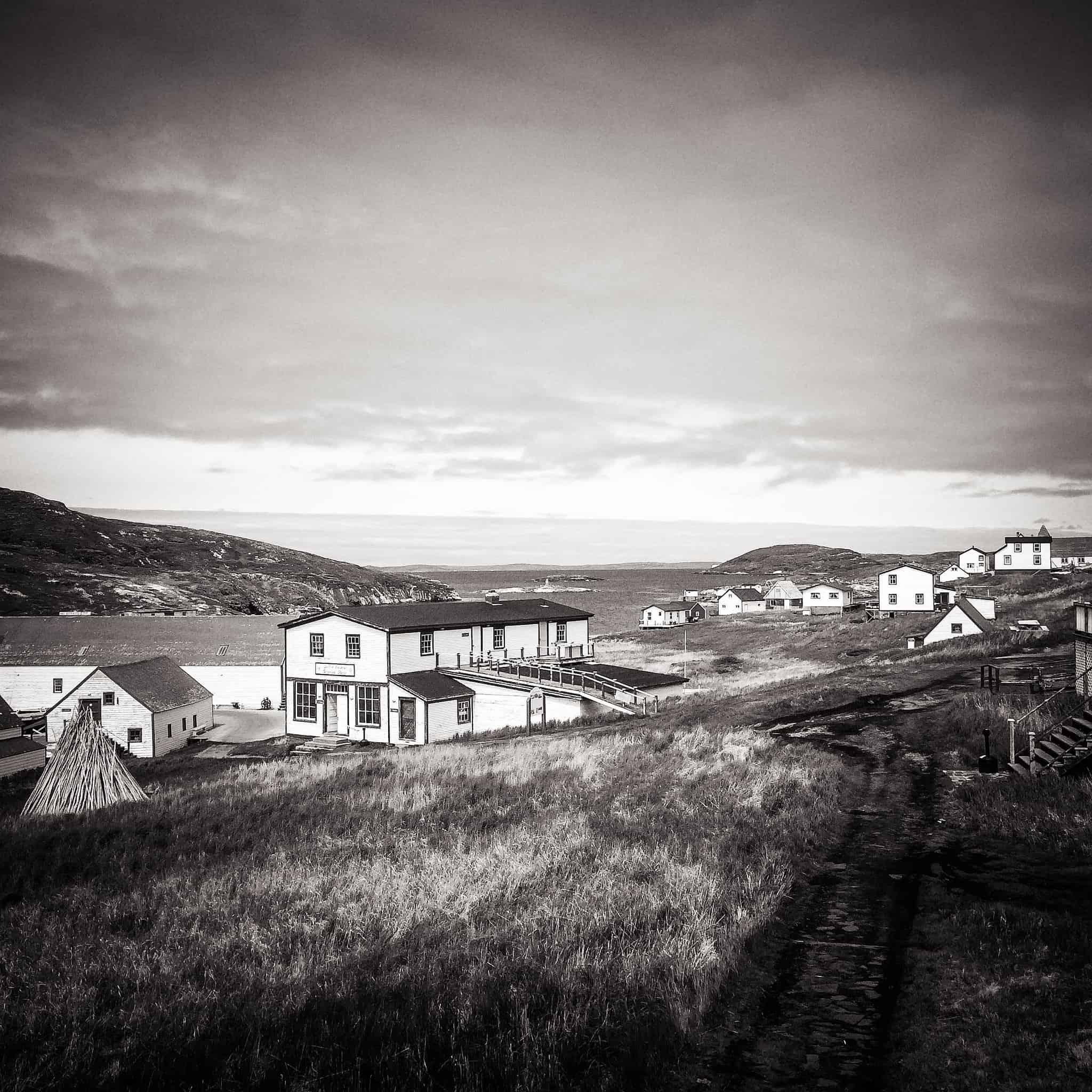 Ein Blick auf die Häuser von Battle Harbour