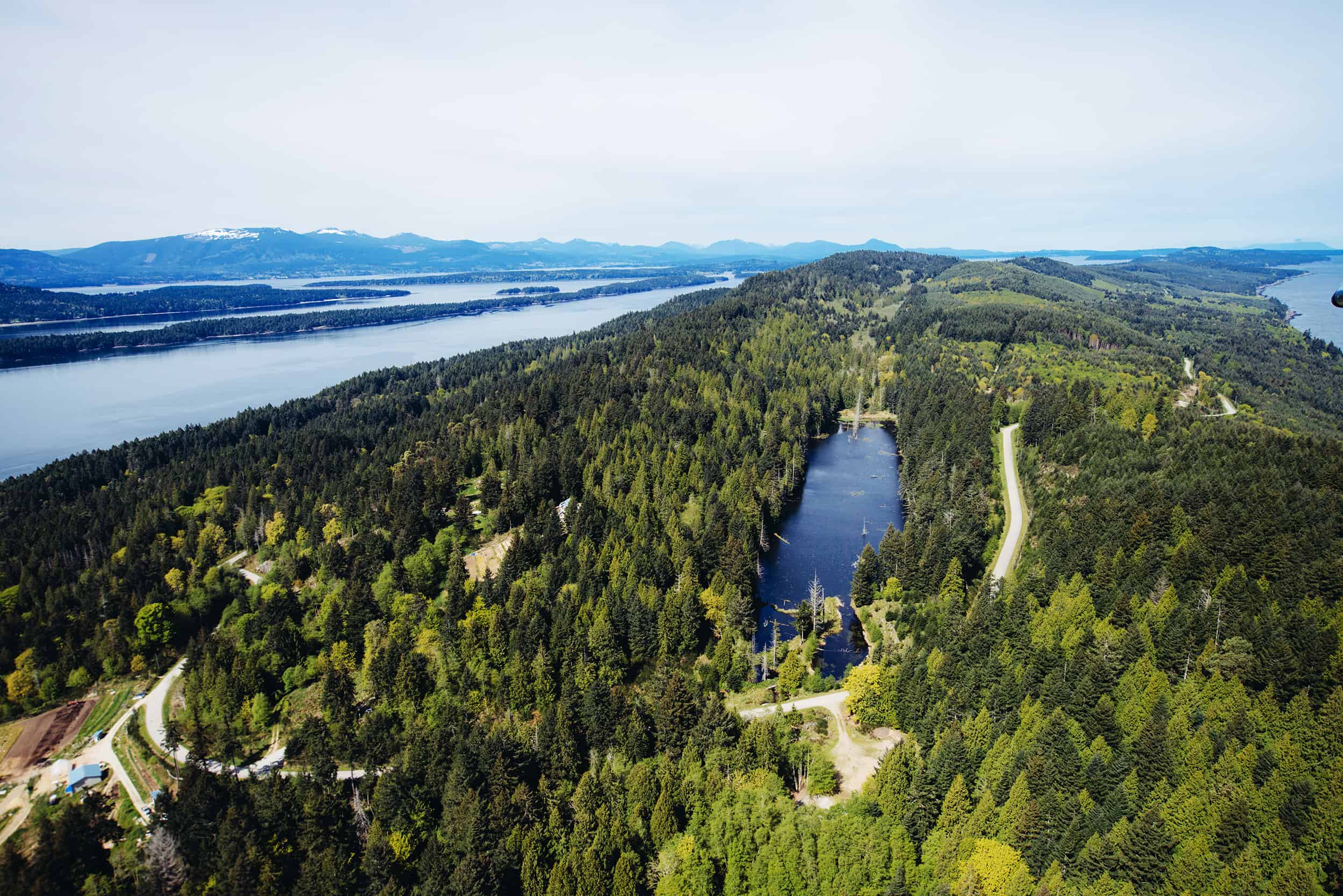 Die Gulf Islands in British Columbia von oben