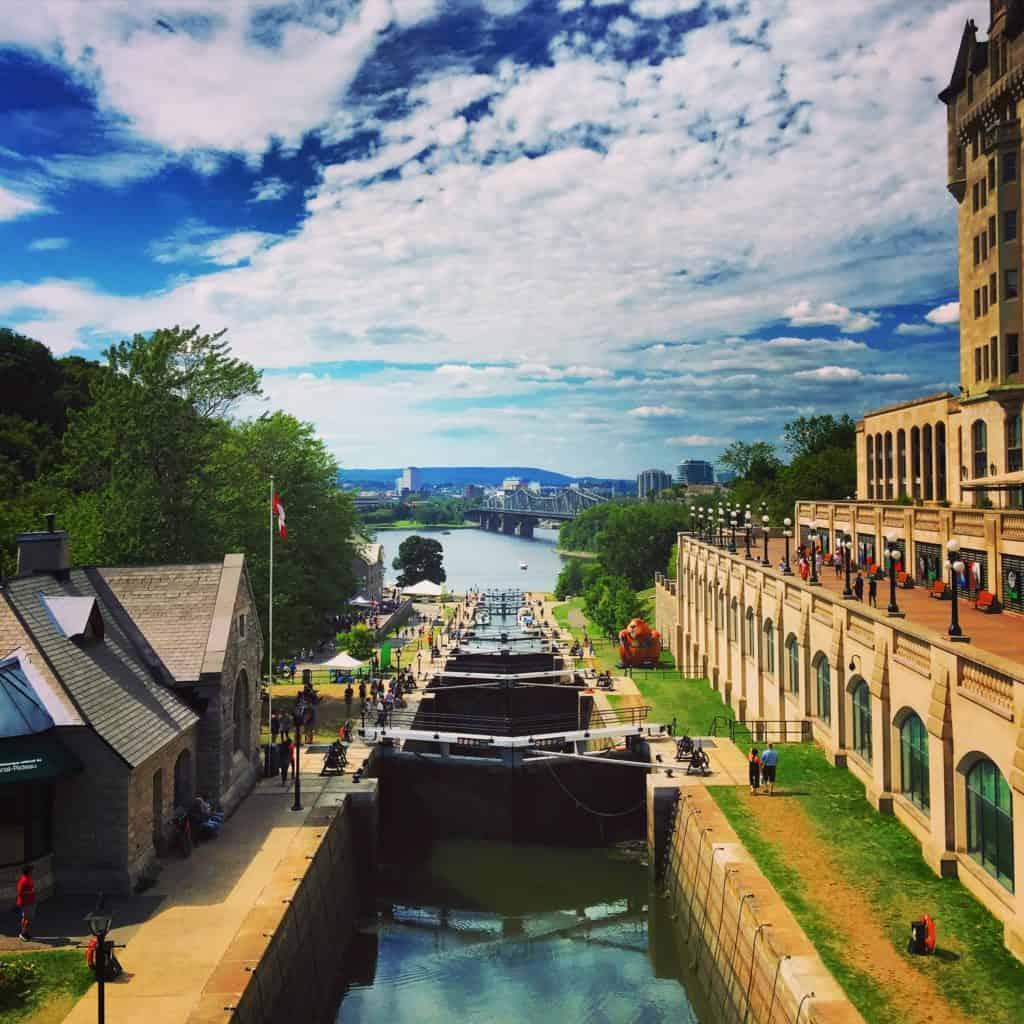 Bytown Museum am Kanal, Ottawa, Kanada