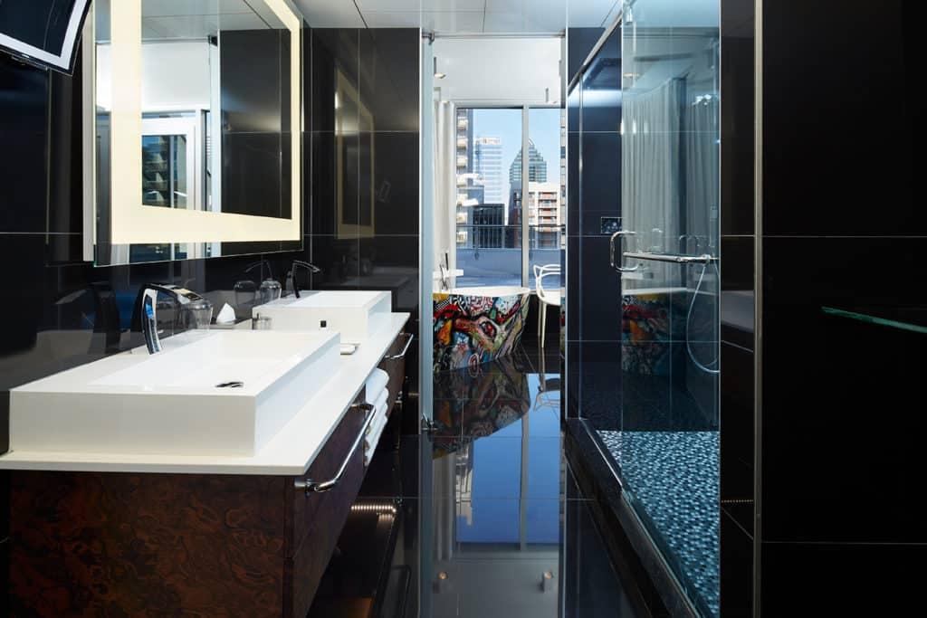 Blick ins Zimmer des Le Mount Stephan Hotels in Montreal, Kanada