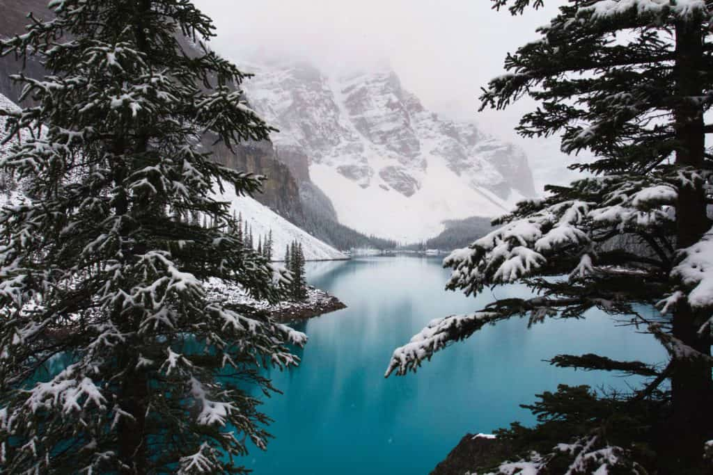Lake Louise im Winter, Alberta, Kanada