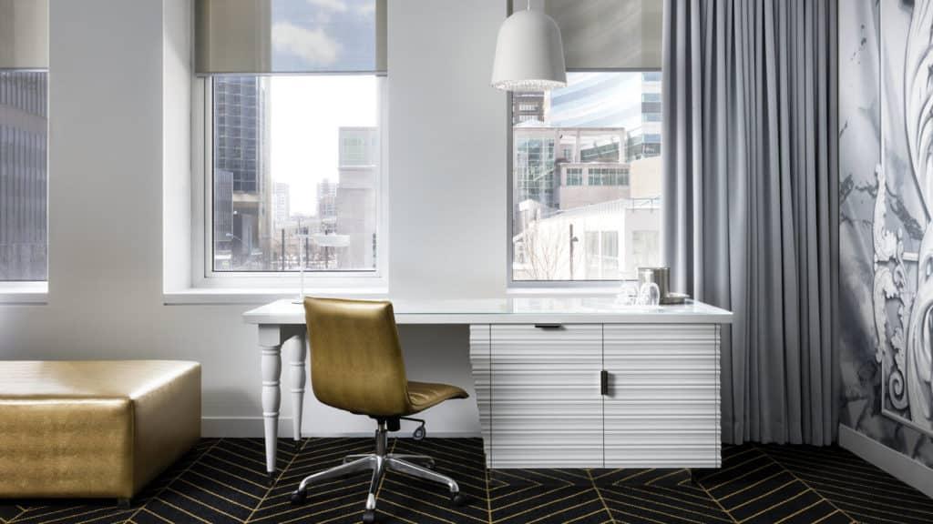 Blick in ein Zimmer des W Hotels in Montreal, Kanada