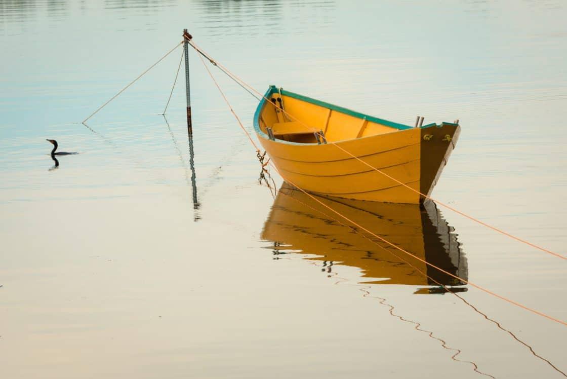 kleines gelbes Boot