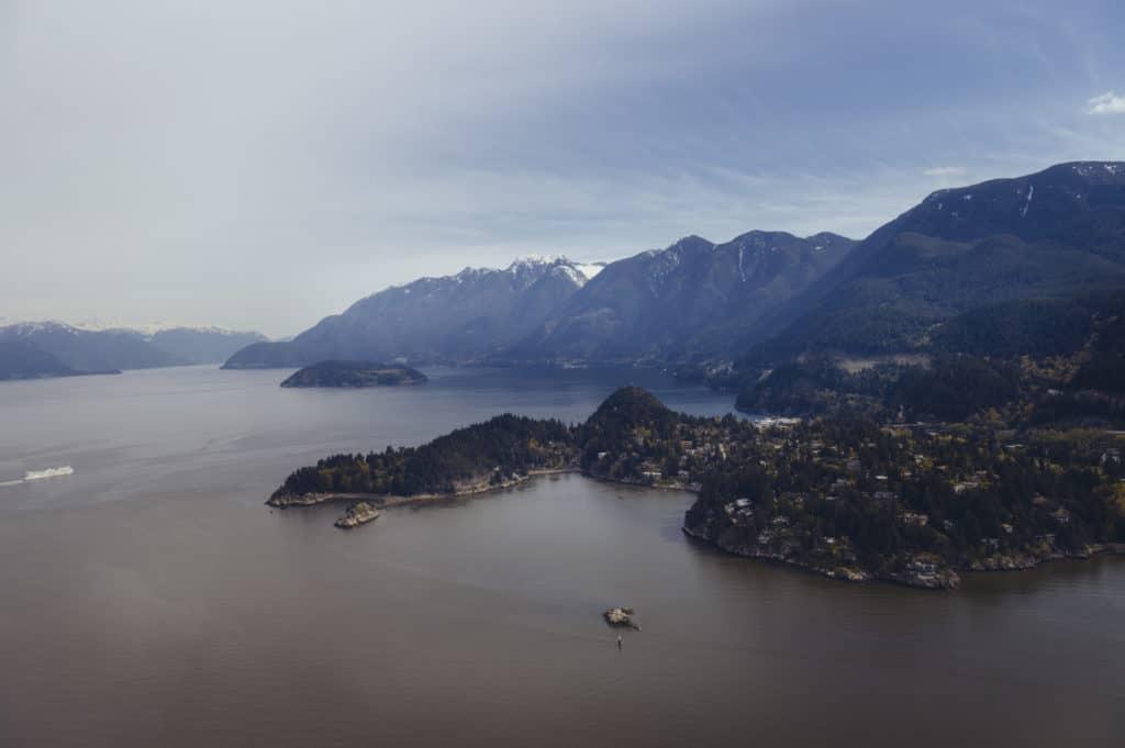 Blick auf den Howe Sound in West Vancouver, Kanada