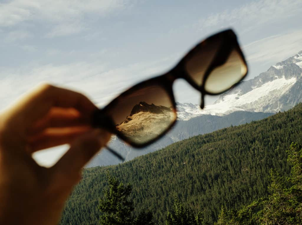 Whistler gesehen durch die Sonnenbrille