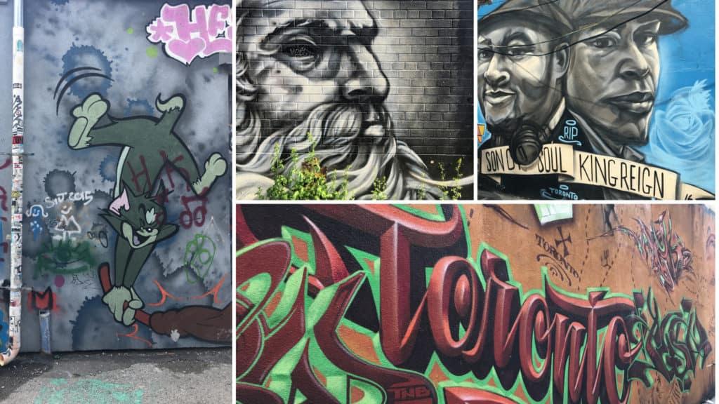 Sammlung von Murals von der Graffiti Alley in Toronto
