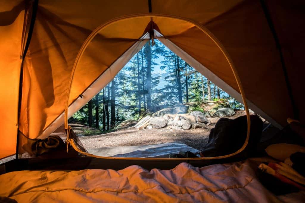 Camping in Squamish, British Columbia, Kanada