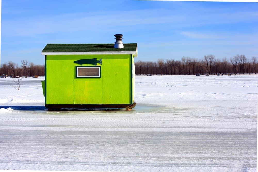 Ice-Fishing Hütte in Quebec,Kanada