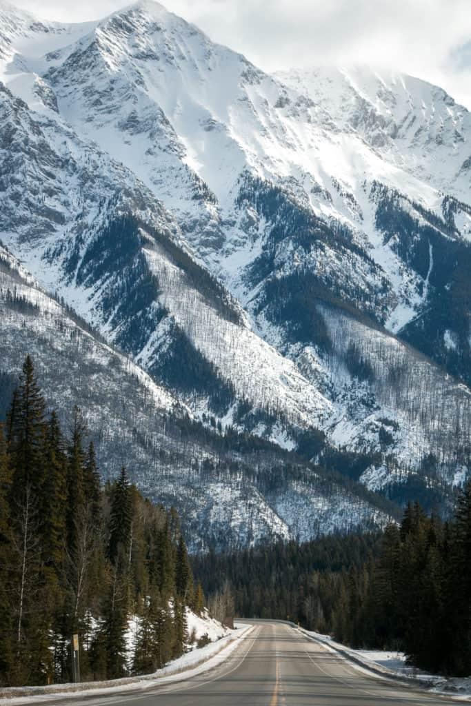 Kootenay Blick auf die Rocky Mountains