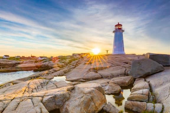 Peggys Cove Leuchtturm in Nova Scotia, Kanada