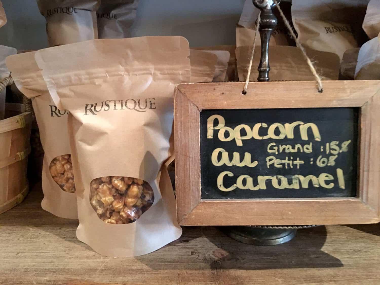 Popcorn au caramel im Rustique in Montreal