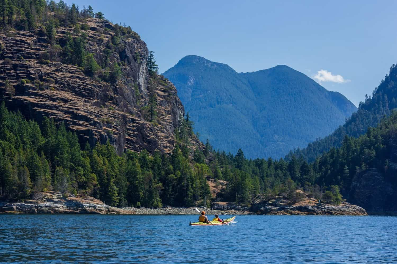 Kayak fahren an der Sunshine Coast