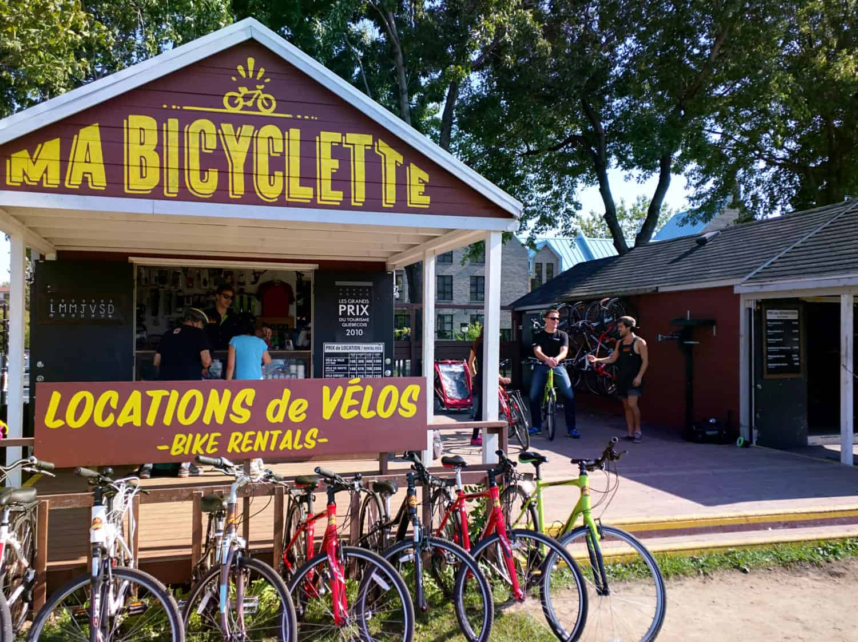 Fahrradverleih Häuschen in Montreal