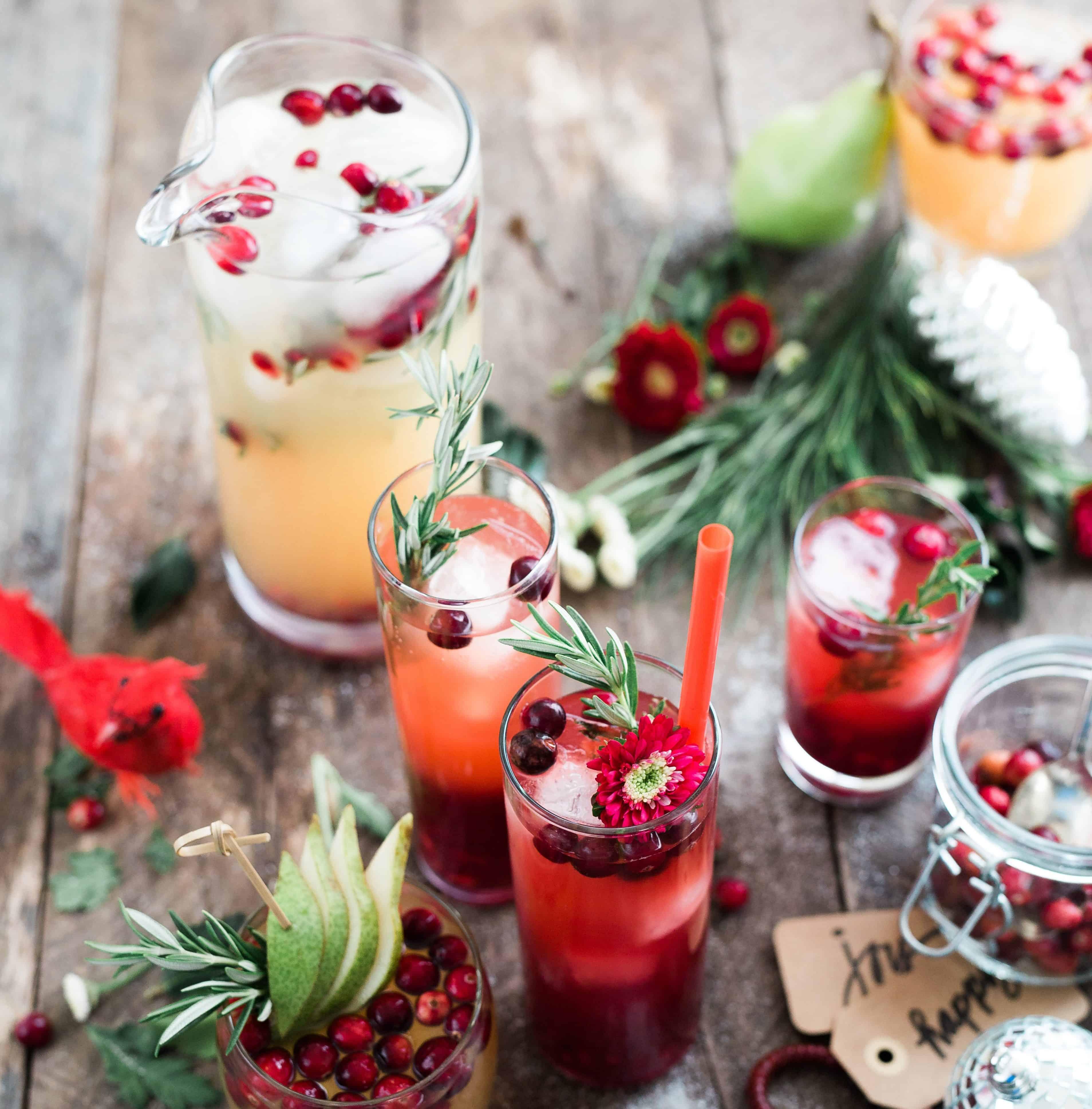 Getränke mit Cranberries