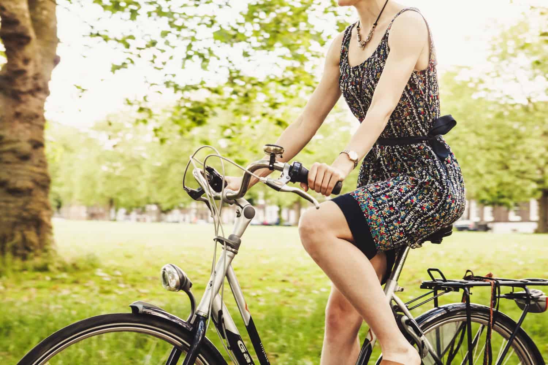 Fahrradfahrerin