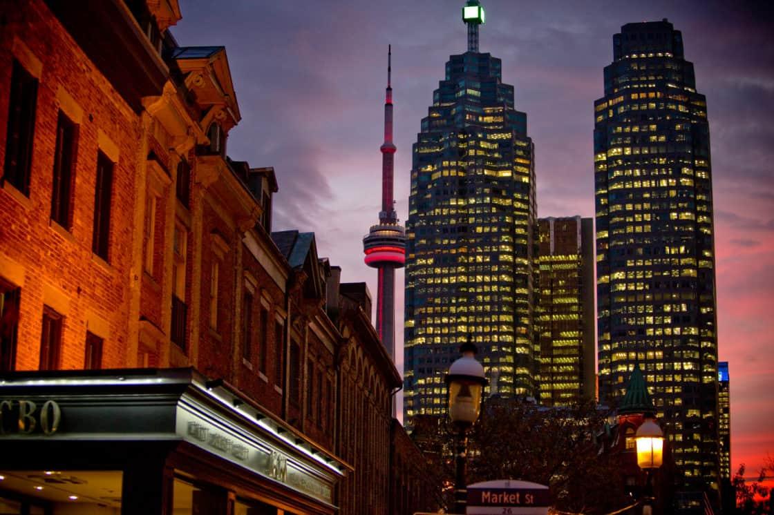 Toronto by night CN Tower