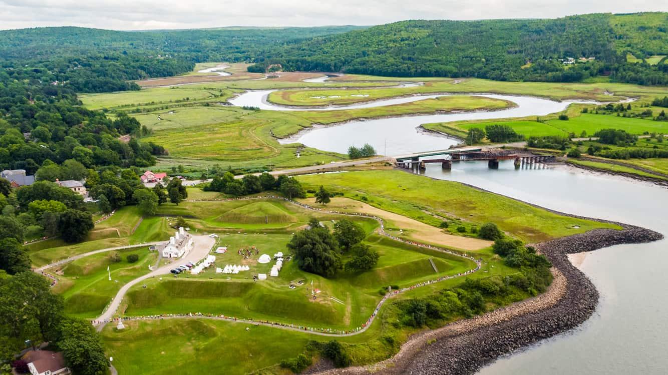 Überblick über Fort Anne