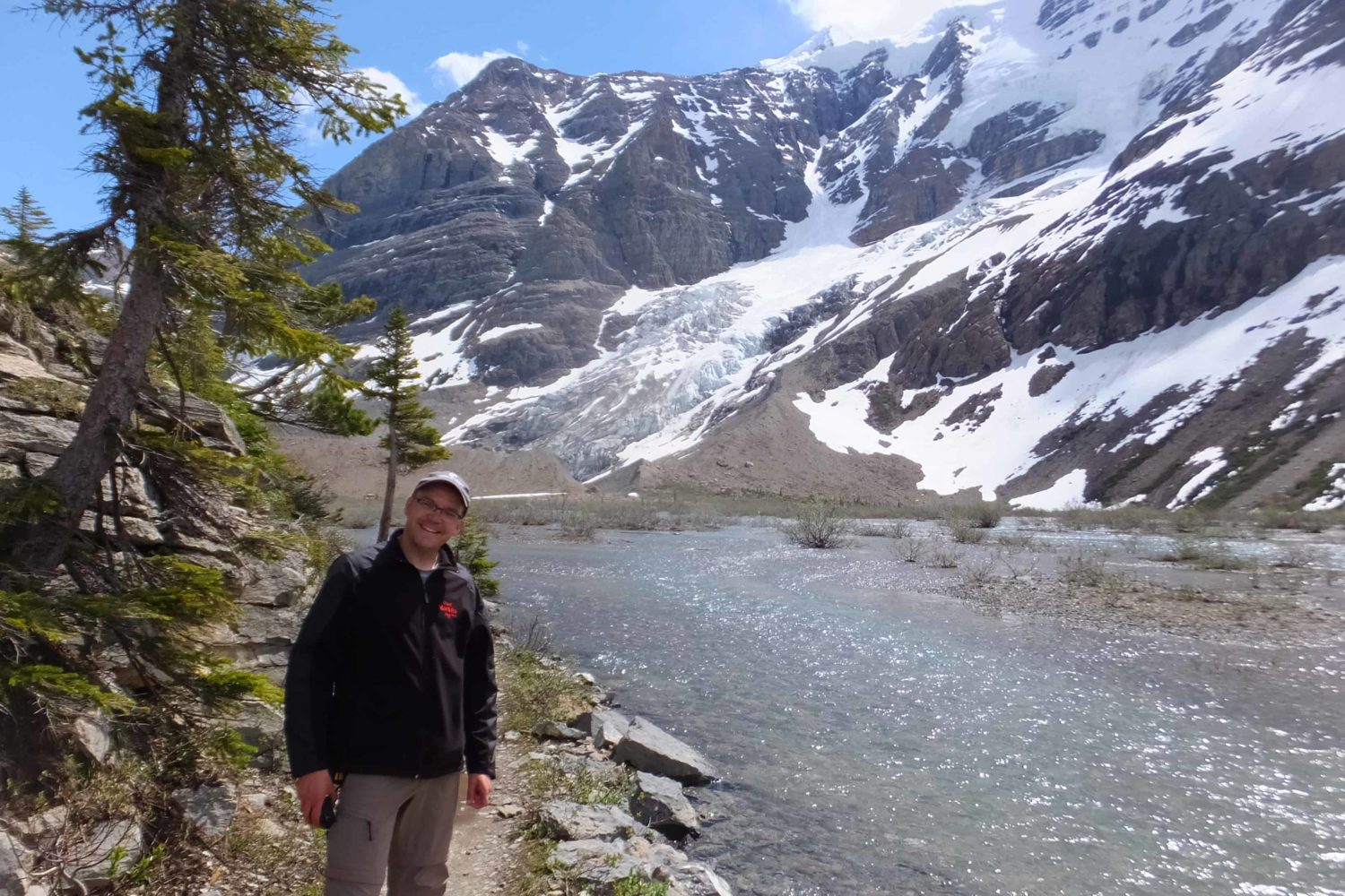Autor Jörg am Berg Lake am Mount Robson