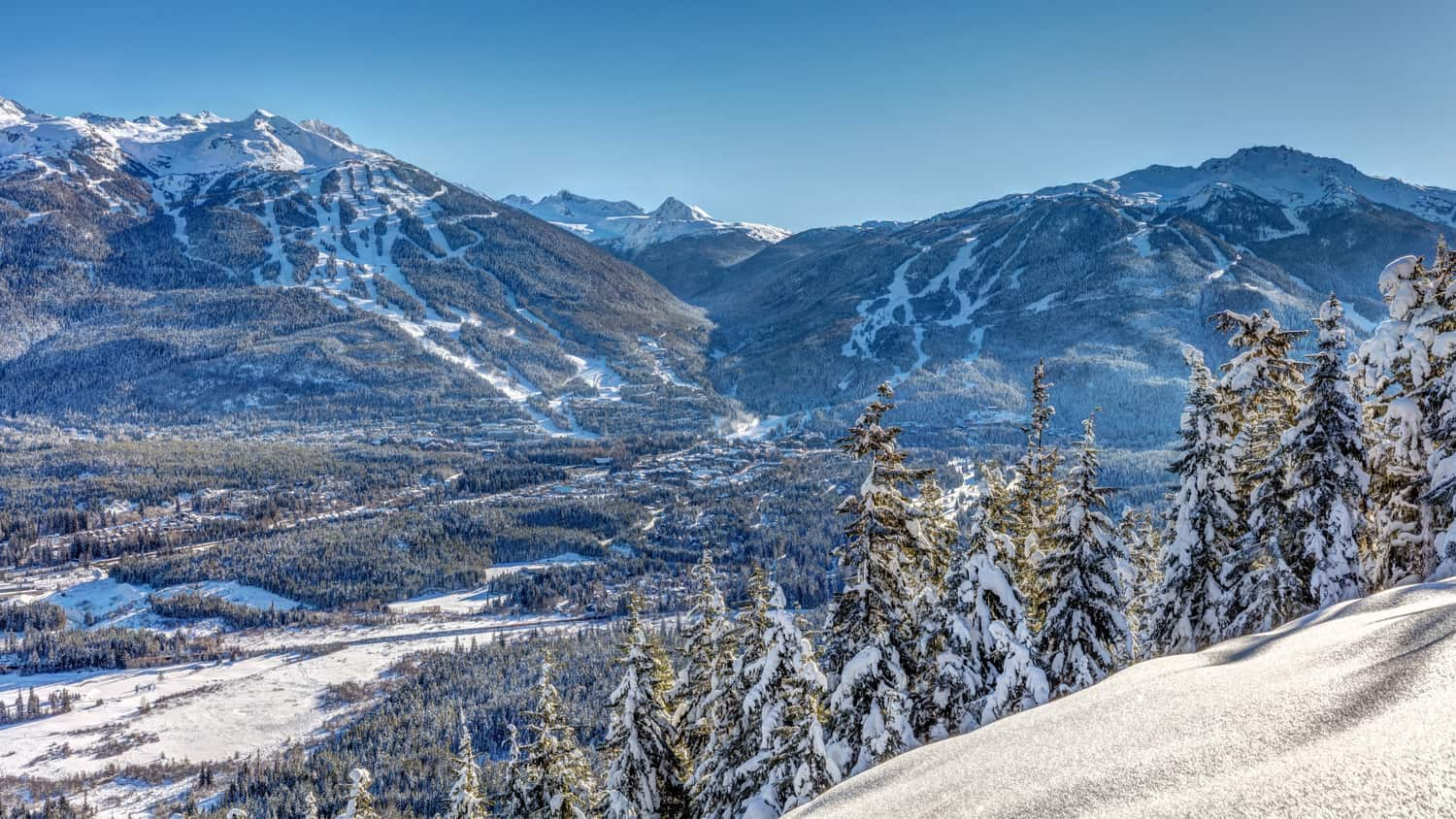 Gebirge im Winter, Blackcomb Mountains, Wistler, BC, Stunning Location