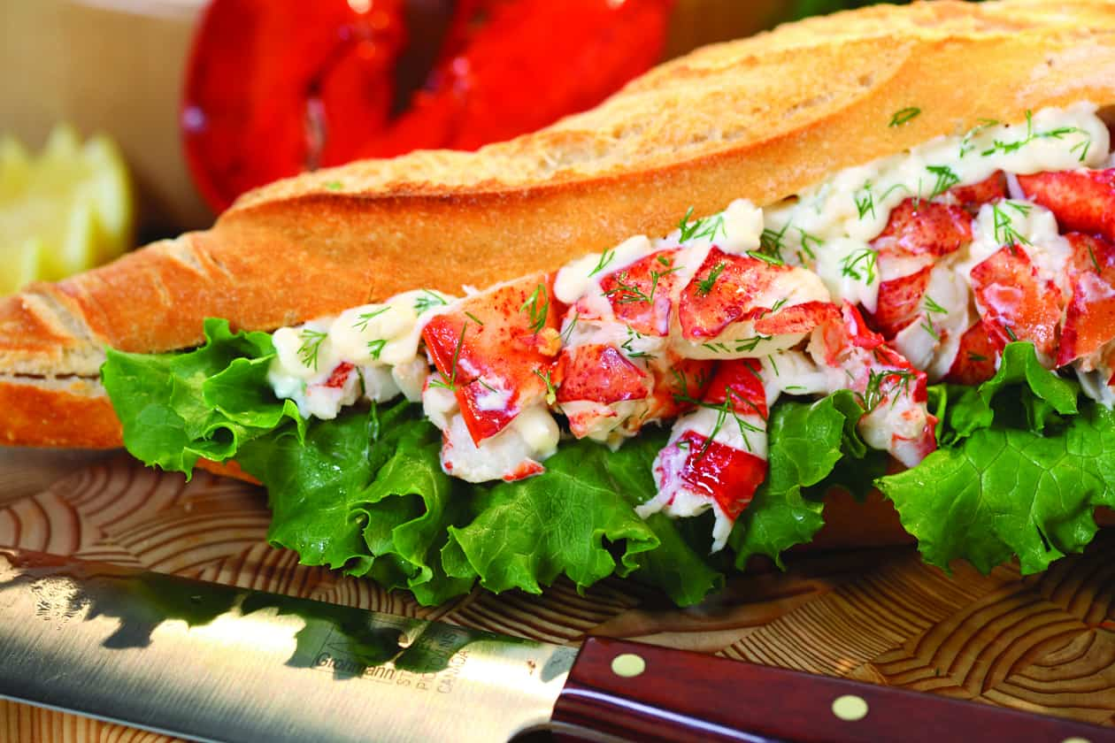 Hummerbrötchen, Fischbrötchen, Citrus Lobster Roll