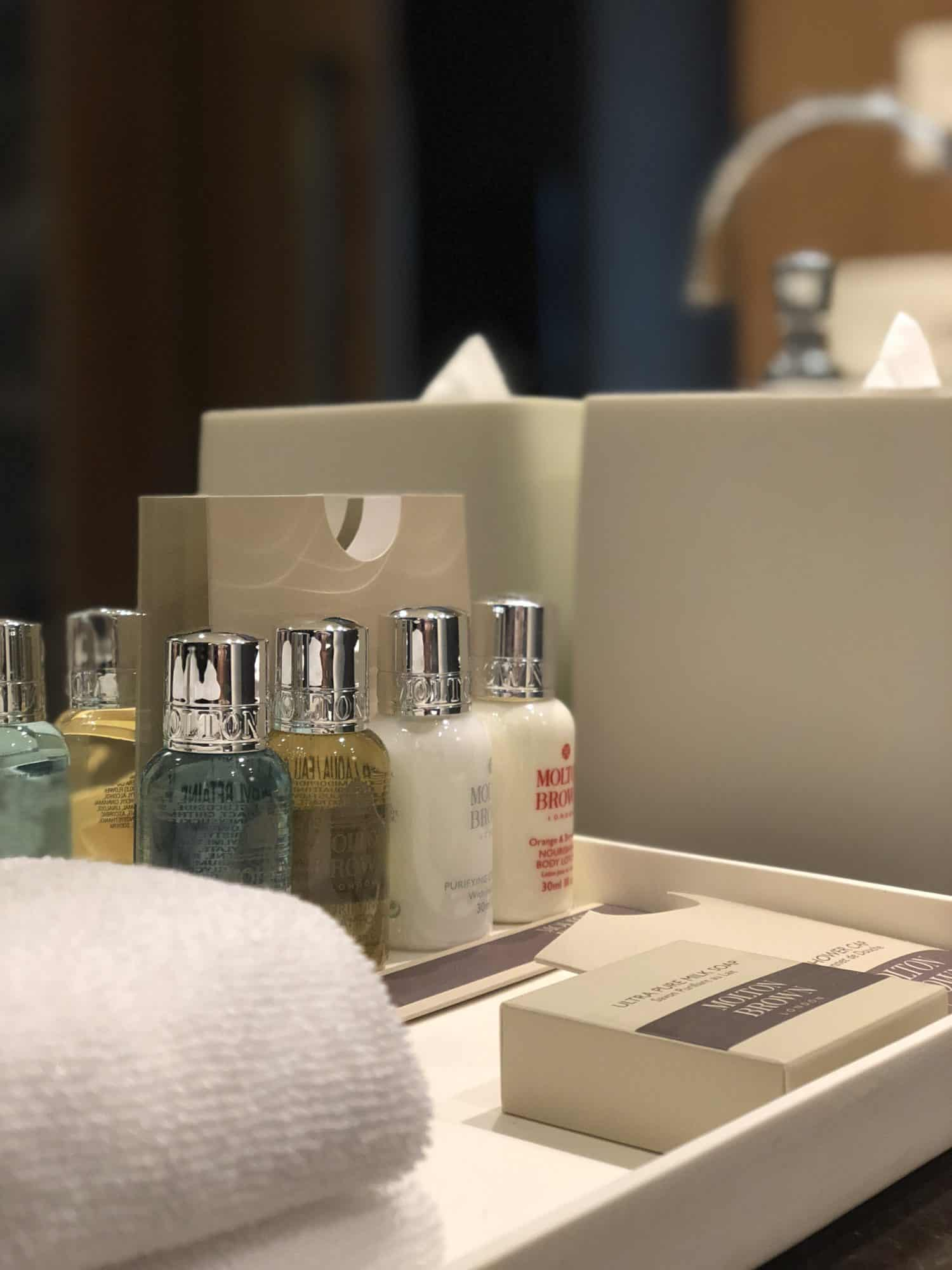 Molton Brown Produkte im Bad des Loden Hotels in Vancouver,Kanada