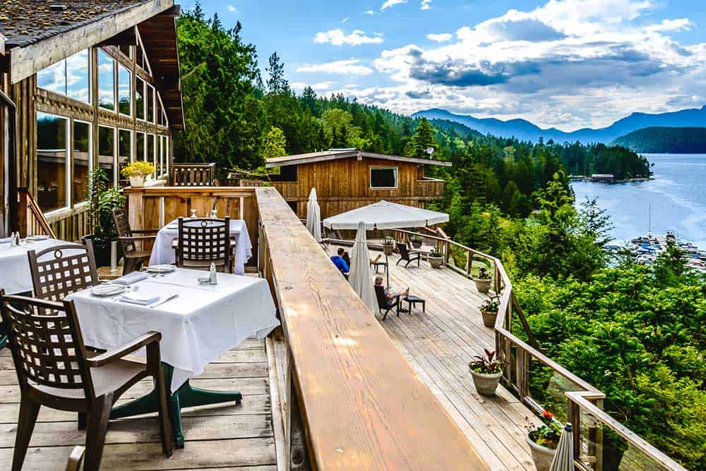 West Coast Wilderness Lodge in Egmont in BC