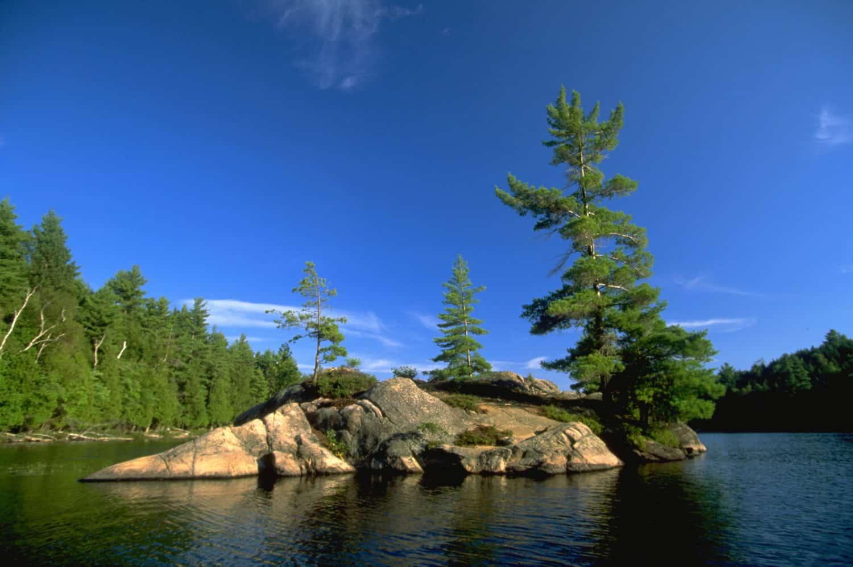 Insel auf dem Silent Lake