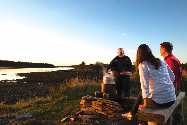 Argyler Lodge Lobster Boil bei Sonnenuntergang