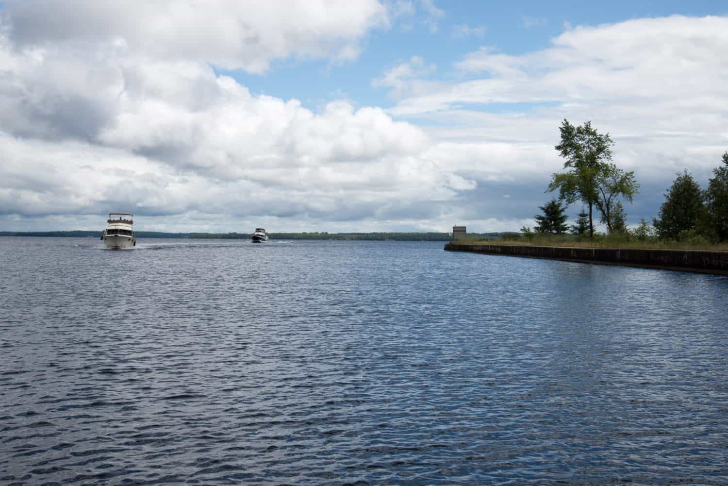 Boating on a summer's day (Balsam Lake, Ontario, Canada)
