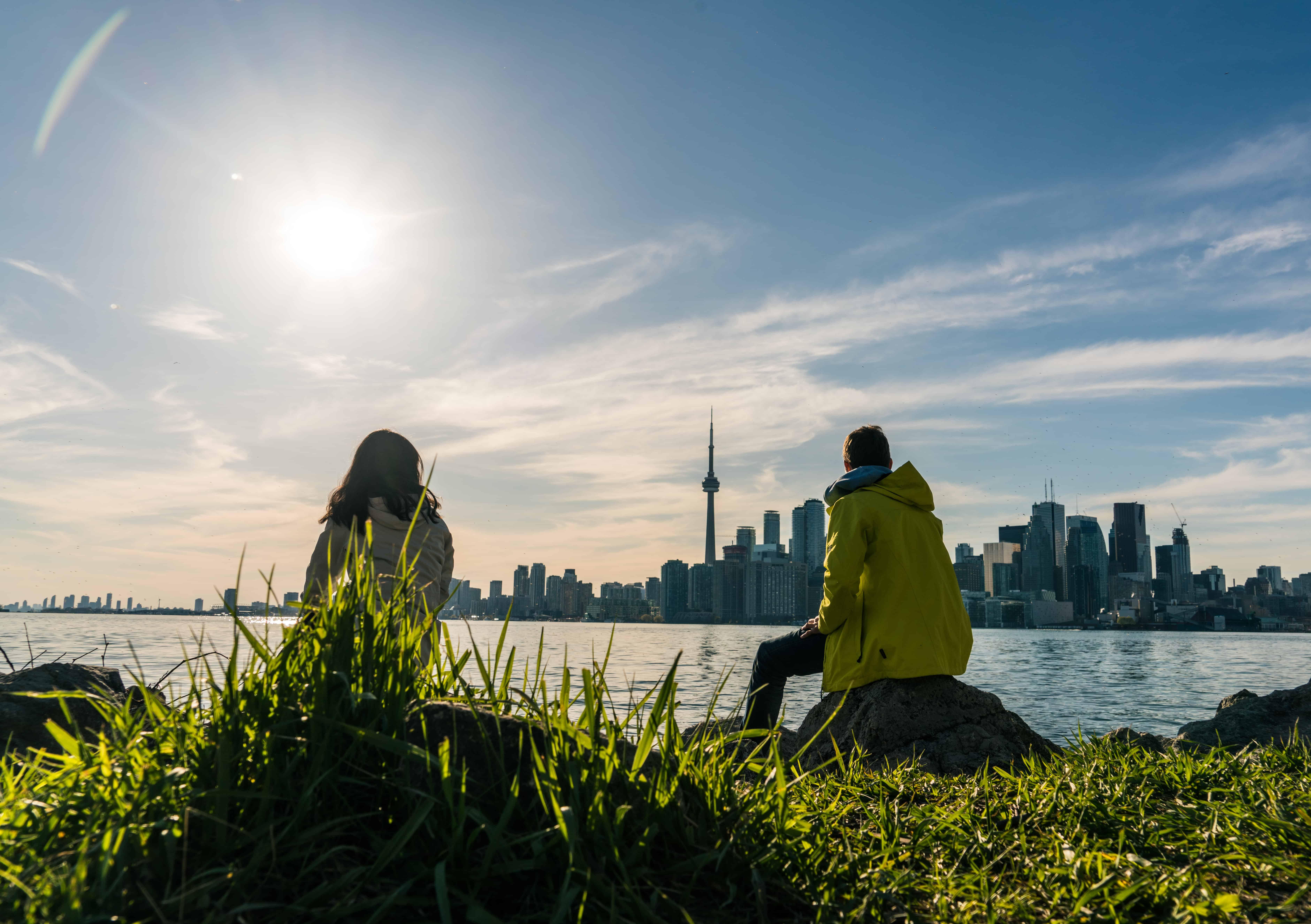 Sicht auf Toronto von den Toronto Islands