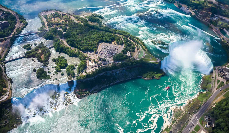 Niagarafälle aus dem Helicopter
