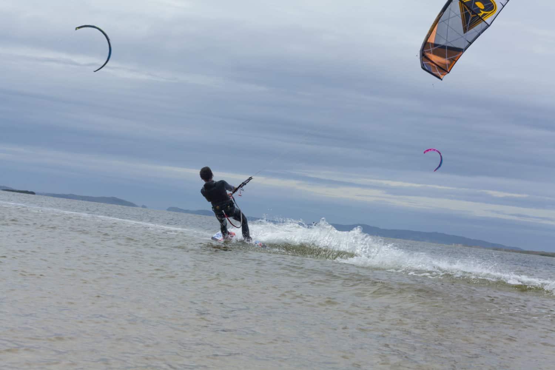 Windsurfen auf Entry Island, Quebec