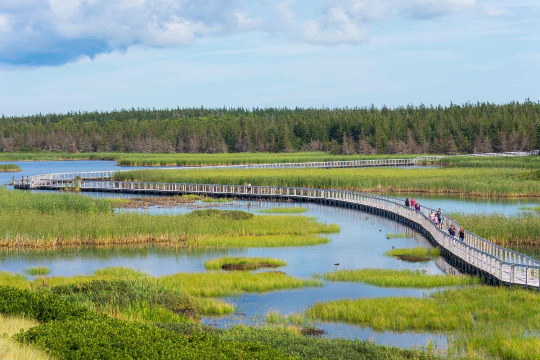 Brücke durch den Prince Edward Island National Park, Kanada