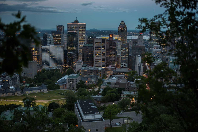 Montreal Skyline bei Nacht, Quebec, Kanada