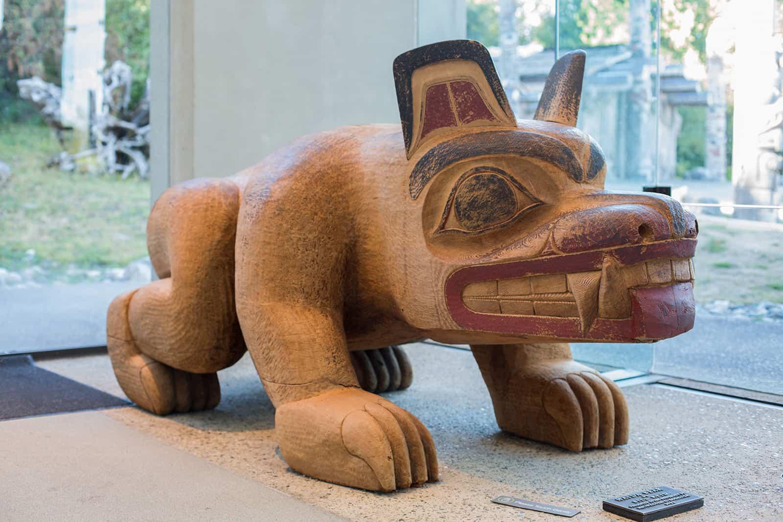 Kunst im Anthropology Museum von Vancouver