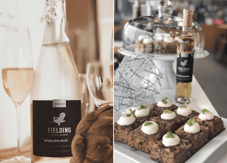 Wein in Nahaufnahme auf Fielding Weingut in kanada