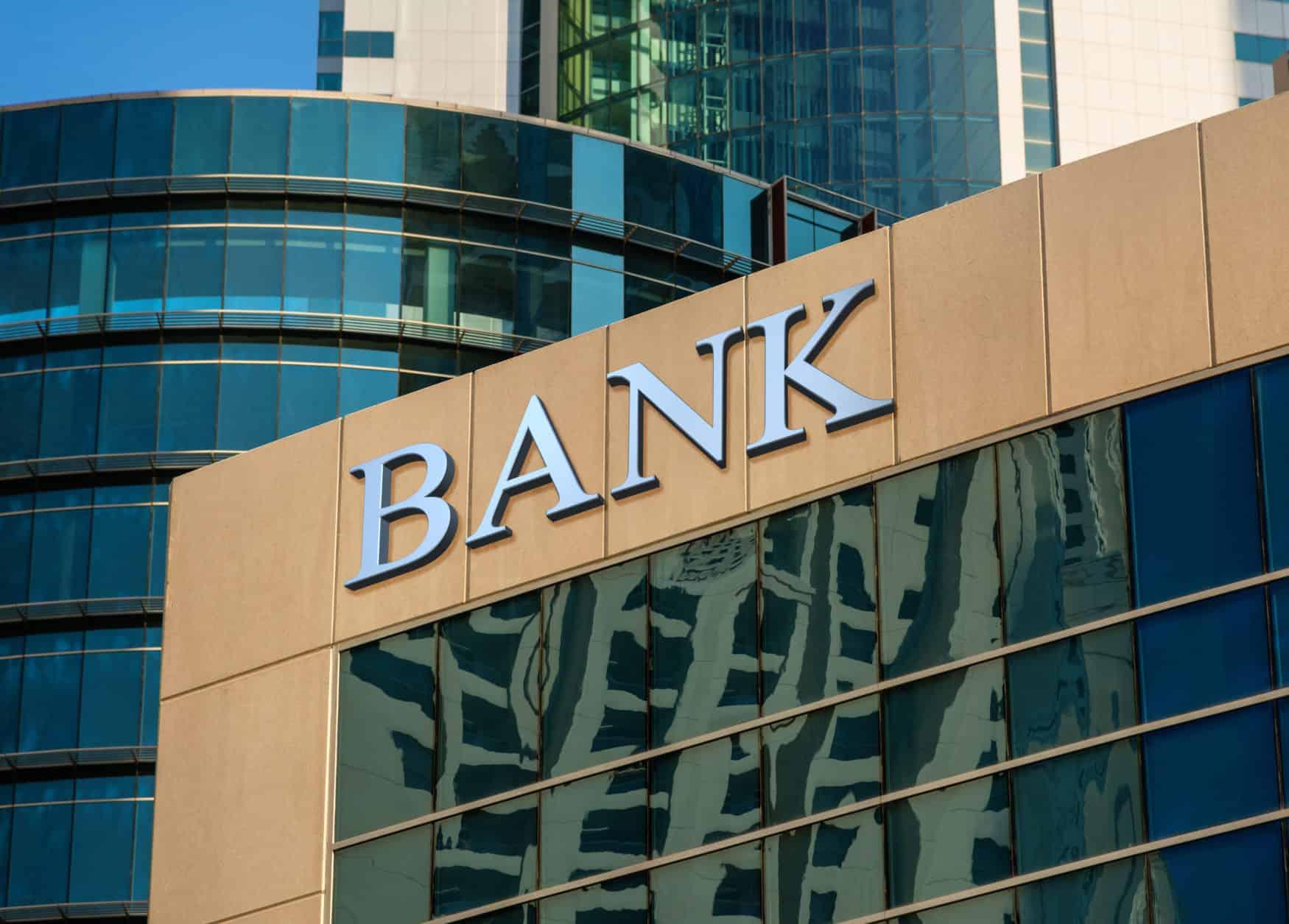 Gebäude einer Bank