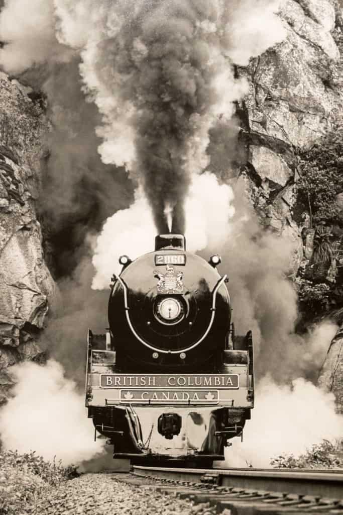historische Eisenbahn in British Columbia