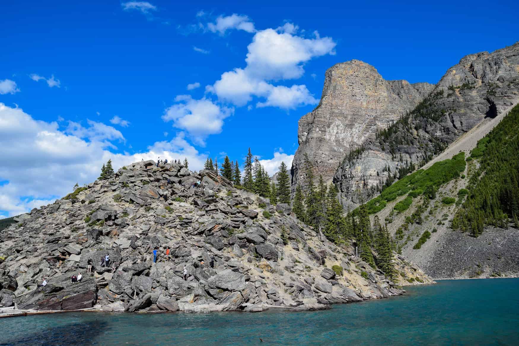 Rockpile, Moraine Lake, Banff National Park, Alberta