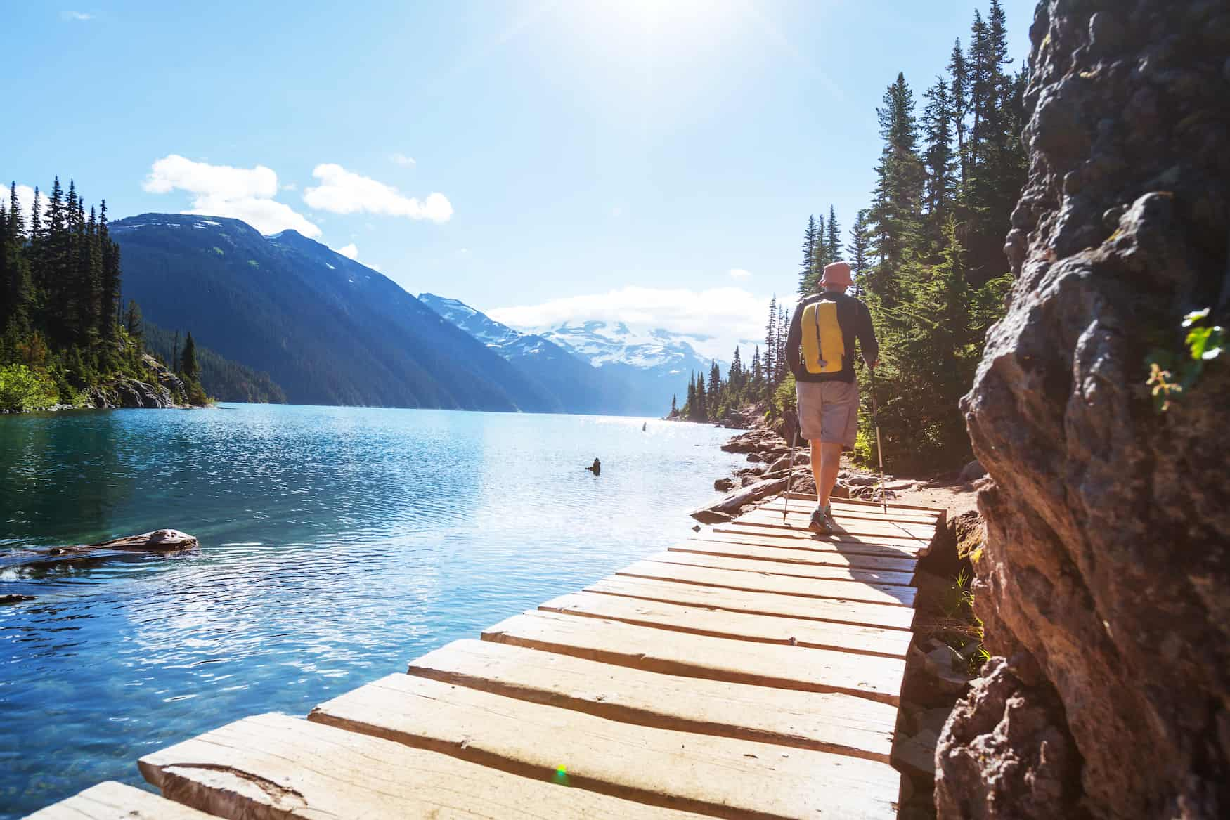 Wandern am Garibaldi Lake, Garibaldi Provincial Park, British Columbia