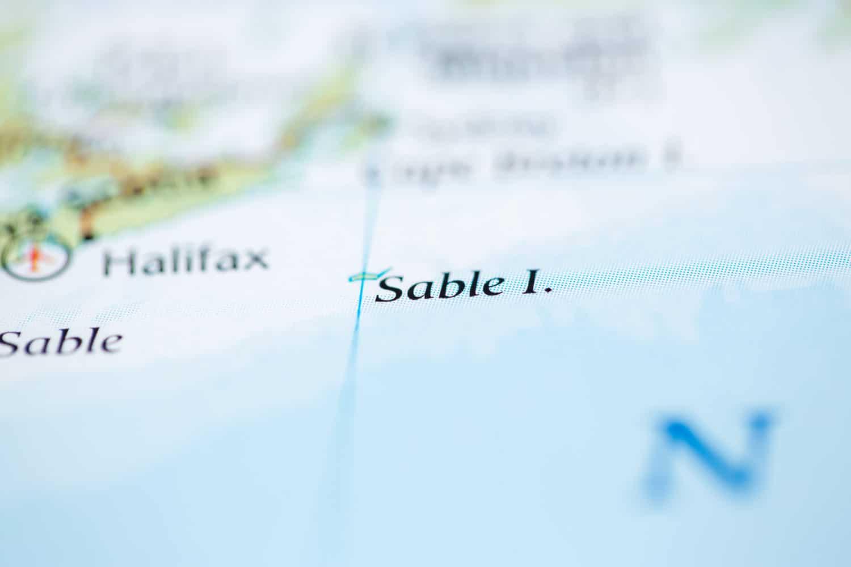 Karte von Sable Island