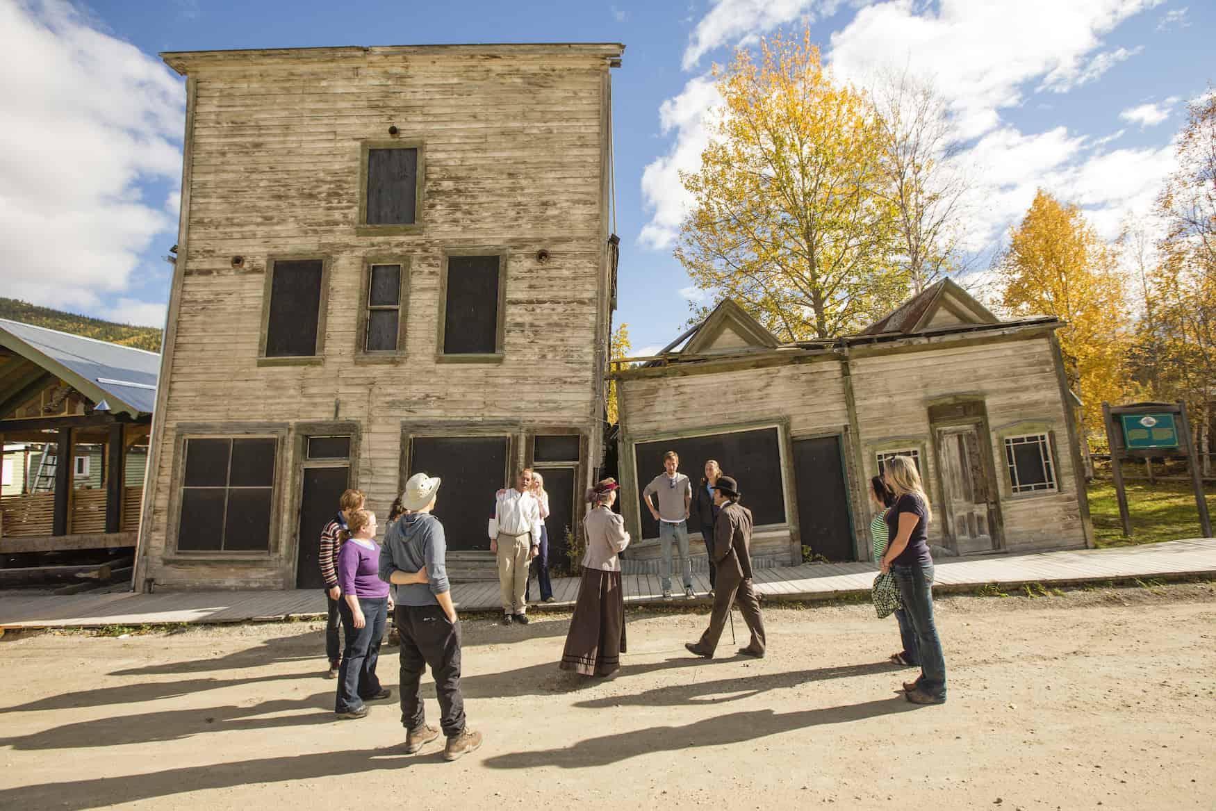 Historic Walking Tour Dawson City Klondike National Historic Sites Yukon