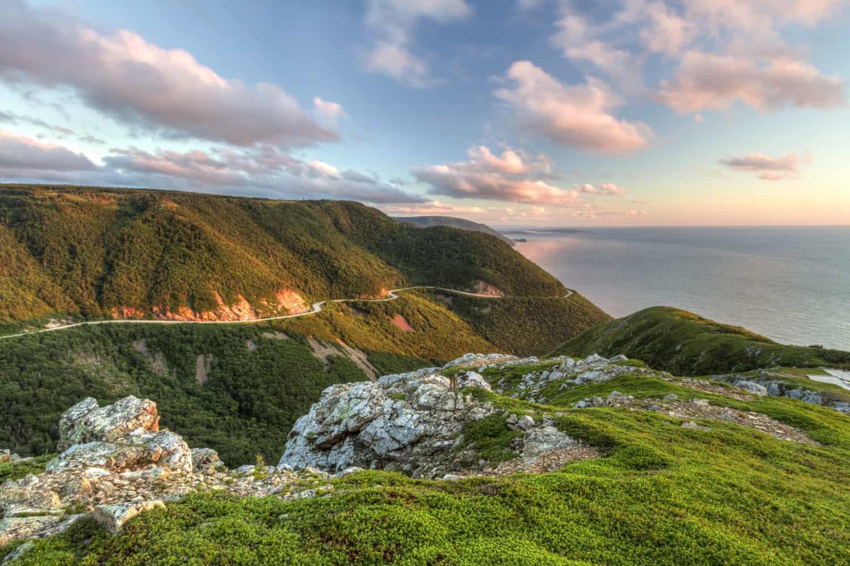 NATIONAL HIGHLANDS PARK, CAPE BRETON, NOVA SCOTIA, Kanada. Der Cabot Trail führt dorthin. schöne Landschaft.