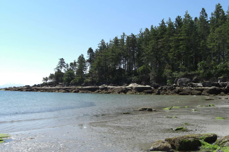 Tribune beach in Hornby Island in British Columbia (BC), Kanada.