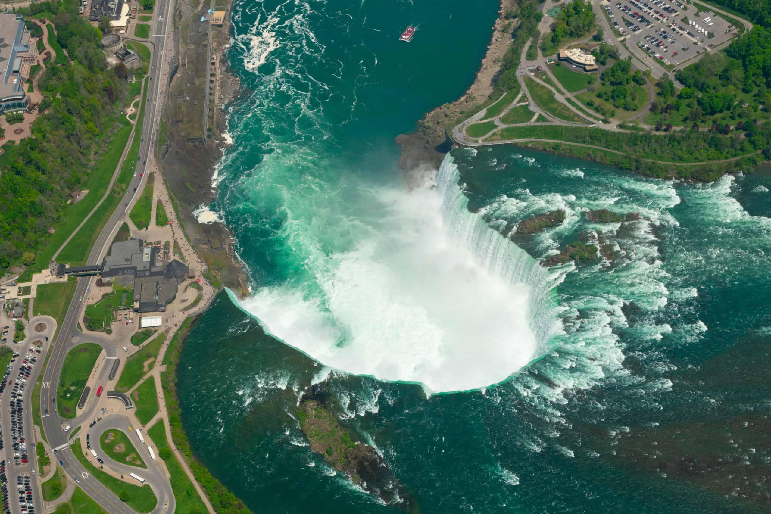 Horseshoe Falls, Teil der Niagara Fälle.