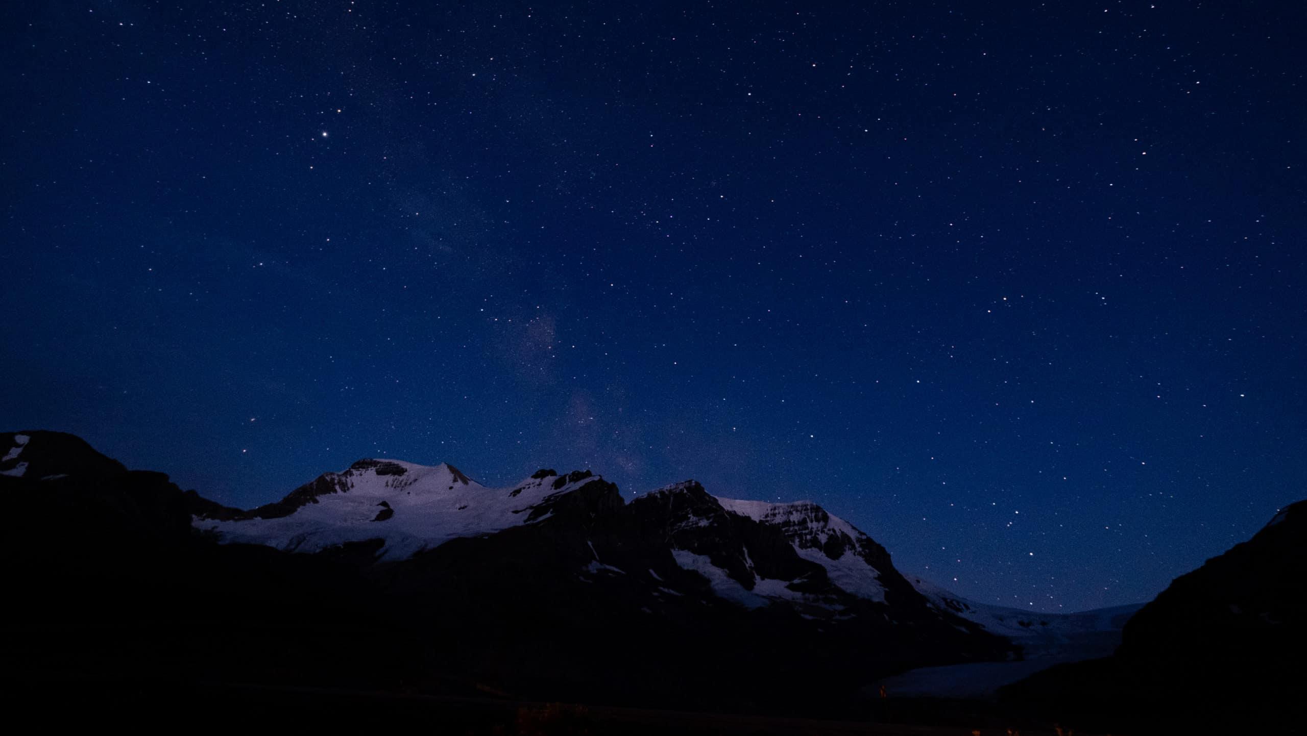 Sternenhimmel über dem Jasper National Park, Alberta