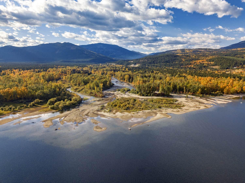Shuswap Lake in British Columbia, Kanada